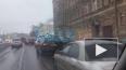На Обводном канале произошло массовое ДТП с автокраном