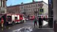 Утром тушили пожар в Доме Ленинградской торговли
