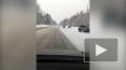 Две иномарки разлетелись по сугробам на Выборгском шоссе