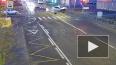 Видео: легковушка влетела в ограждение после ДТП в Шушар...