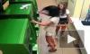 Нервное видео из Сочи: разъяренная дамочка атаковала банкомат