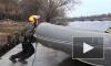 В Петербурге любители экстрима соревновались в «Ледяной гонке» River Marathon Class