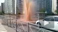 На парковке в Колпино забил 20-метровый фонтан горячей ...