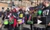 Феминистки, веганы, барабаны и коты: на Лиговском проспекте началась Монстрация