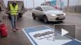 Петербургский трамвай нарисовали на дороге