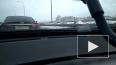 """Видео: на Арсенальной набережной перевернулся """"Солярис"""""""