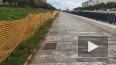 Ремонтные работы по обустройству набережной реки Смоленк...