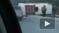 В Кемерове маршрутный автобус улетел в кювет и переверну...