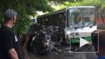 В центре Тюмени легковушка протаранила автобус, есть ...