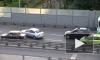 Двое из «жигулей» провоцировали ДТП на виадуке в Автово