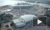 На строящийся участок ЗСД у стадиона «Зенит-Арена» рухнул кран