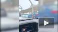 При съезде на ЗСД Hyundai Elantra столкнулся со спецтехн...