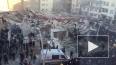 Первые кадры после обрушения шестиэтажного здания ...