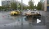 В Выборгском районе такси и иномарка вылетели напешеходную зону