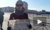 """Появилось видео пикета активиста """"Весны"""" у стен Университета профсоюзов"""