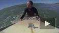 Опасное видео из Калифорнии: серфингист удрал от акулы