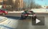 Петербуржец выехал на бой с рождественскими морозами в кабриолете
