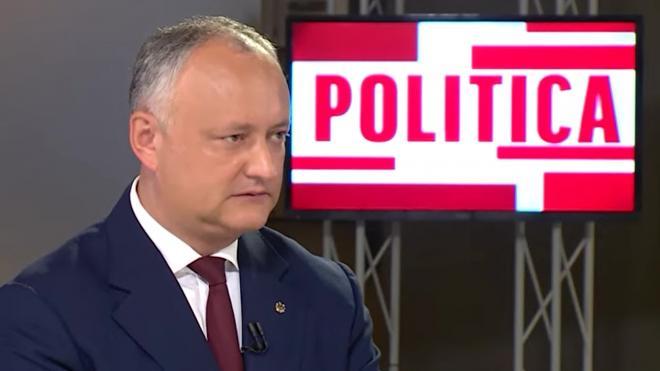 "Додон исключил коалицию социалистов с партией ""Шор"" в парламенте Молдавии"
