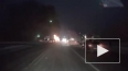 Видео полыхающей Мазды на М4 опубликовали в сети