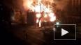 Очевидец снял горящий дом в Калининграде
