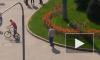 На Светлановской площади велосипедист зацепил машину и хотел скрыться с места происшествия