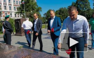 В честь 76-летия Выборгской наступательной операции в Выборге возложили цветы к стеле «Город воинской славы»