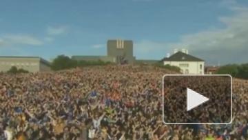 Видео: Сборную Исландии на родине встретили как героев