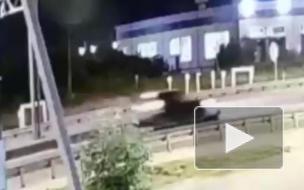 На видео попал момент смертельного наезда Zotye на женщину в Шушарах