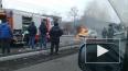 Видео: в Чите загорелся автомобиль