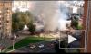 """Появилось видео пожара на месте сноса самостроя возле станции """"Улица 1905 года"""""""