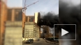 Очевидец снял пожар в Одинцово