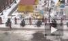 В Ставрополе засняли на видео страшный ураган, который смёл в кювет 14 автомобилей и уволакивал пассажиров