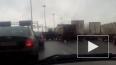 На КАД у Вантового моста столкнулись три большегруза