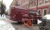 Проспект Чернышевского перекрыт из-за уборки сосулек с крыш зданий