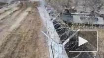В сети появилось видео с тараном ограждения аэропорта пьяными срочниками на БМП