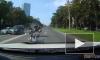 Мотоциклиста разорвало на несколько частей в ДТП на Краснопутиловской улице