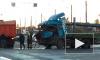 На Васильевском мусоровоз и автовоз помяли друг друга