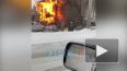 У Приморского шоссе горит деревянный дом