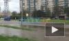 Видео: на Парашютной вода затопила проезжую часть