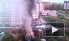 Появилось видео пожара в последнем частном доме на улице Мира в Мытищах