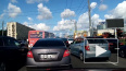 "Видео: у метро ""Улица Дыбенко"" образовалась километровая ..."