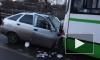 В Колпино легковушка столкнулась с автобусом