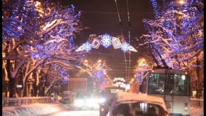 Самое новогоднее шоссе