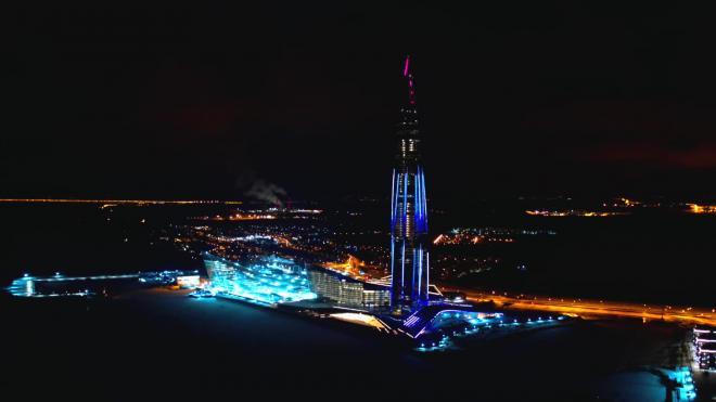 """На фасаде """"Лахта Центра"""" и """"Газпром Арены"""" 1 января покажут световое шоу"""