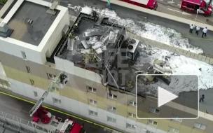 Пожар на крыше здания ГИБДД на западе Москвы ликвидирован