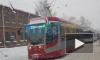 Сломавшийся автобус парализовал движение на Кондратьевском проспекте