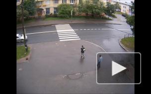 Зацепил пешехода в Красном Селе.