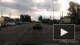 БТР протаранил автомобиль в Кемерово