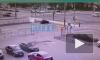 Столкновение машин на пересечении Луначарского и Гражданского попало на видео