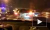 Видео: в ДТП на КАД погиб человек, кольцо стоит в бесконечной пробке
